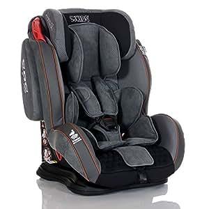LCP Kids Auto Kindersitz GT 9-36 kg - Liegefunktion - verstellbare Kopfstütze Gr. 1 2 3; Grau