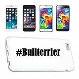 Handyhülle iPhone 7 Hashtag ... #Bullterrier ... im Social Network Design Hardcase Schutzhülle Handycover Smart Cover für Apple iPhone … in Weiß … Schlank und schön, das ist unser HardCase. Das Case wird mit einem Klick auf deinem Smartphone befestigt