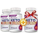 Revolyn Keto Burn - Diätpille für effektiven Gewichtsverlust | 3 Flaschen zum Preis von 2 (3 Flaschen)