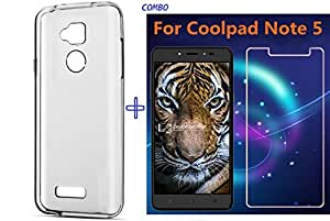 Transparent Soft Rubber Back Cover For Coolpad Note 5 (TEMPERED GLASS FREE)