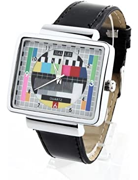 YESURPRISE 030488–Armbanduhr, Armband aus Edelstahl Farbe Schwarz