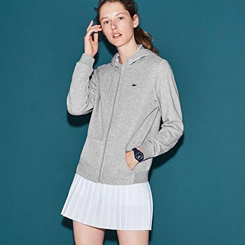 Lacoste Damen Sf1550 Umstands Sport Sweatshirt, Grau Argent Chiné P5v, 42 (Herstellergröße: 44)