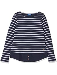 Tom Tailor Striped with Fabric Mix, Sweat-Shirt Fille