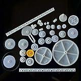 34 Arten von Zahnstange und Ritzel Tasche Spielzeug Modell Riemenscheibe Kunststoff Schneckengetriebe
