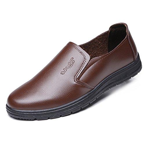 Scarpe Mocassino da Guida per Uomo Confortevole con Suole morbide per la Guida al Vento, Antiscivolo, Resistente agli Oli e all'Acqua delle Scarpe da Barca Scarpe di Pelle