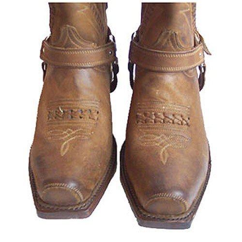Rancho , Boots biker mixte adulte Beige - Nb Beige