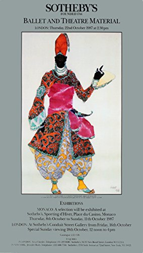 1987Leon Bakst Kostüm Design für einen Eunuch - Bakst Kostüm Designs