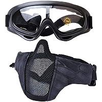 Kapmore Masque de Airsoft Strike Acier Demi Visage Masque équipement de  Protection Extérieure 87ff9995e889