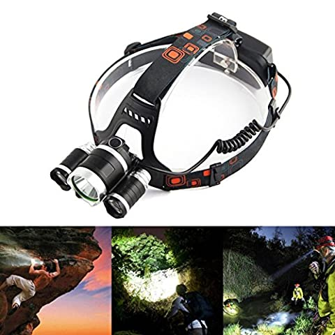 6000LM CREE XM-L T6 LED head light headlamp Flashlight Battery Operated Water Resistant for Camping, Fishing, Hiking and Hunting M1394