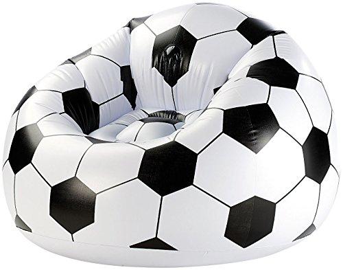 Aufblasbarer Fußballsessel Soccer Ball, Clubsessel im coolen Lounge-Style