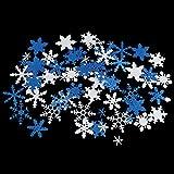 50pcs Del Color Brillo De Nieve Copo De Artes Manuales De Bricolaje Mixtos