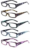 VEVESMUNDO Lesebrille Damen Herren Federscharnier Schildpatt Vintage Brille Augenoptik Sehhilfe Rechteckige Lesehilfe Schwarz Grün Blau Lila Gelb mit Sehstärke 10 15 20 25 30 35 40
