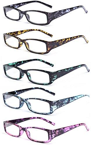 VEVESMUNDO® Lesebrille Damen Herren Federscharnier Schildpatt Vintage Brille Augenoptik Sehhilfe Rechteckige Lesehilfe Schwarz Grün Blau Lila Gelb mit Sehstärke 10 15 20 25 30 35 40