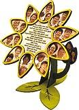 Holz Bastelset - Fotorahmen Blüte - komplett ausgesägt natur Blume Foto / zum selber basteln - Echt Erzgebirge - hergestellt in Deutschland - Deko für Kinder + Erwachsene - Komplettset