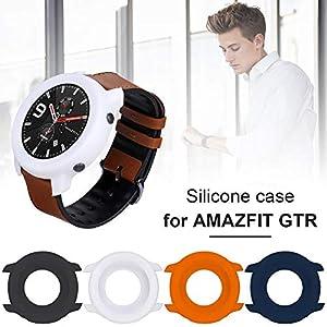 2 Stücke Kompatibel Für Huami Amazfit GTR Smart Watch Silikon Schutzhülle, Weiche Explosionsgeschützte Und Bruchsichere Full Cover Schutzhülle Stoßstange Fall