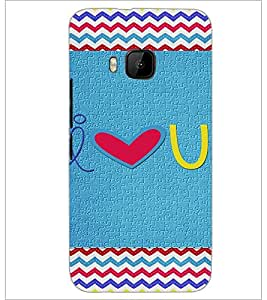 PrintDhaba Quote D-3599 Back Case Cover for HTC ONE M9S (Multi-Coloured)