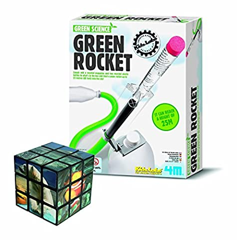 Quality Build Your Own Recycled Eco Rocket - Science & Creative FREE Fun Sealife Twist Puzzle/Cube Thinking Set - Great Gift Present Idea for Christmas Xmas Stocking Filler Birthdays or Ideal Reward Treat or Pocket Money Toys & Games Age 8+ Children Kids Boys Boy Girls