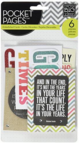 Unbekannt Me & My Big Ideas Pocket Seiten Pocket Karten, Dankbarkeit
