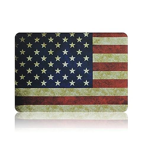 HASESS US-Flaggege Designed Plastik Schutz Hülle Case Abdeckung für Macbook 15