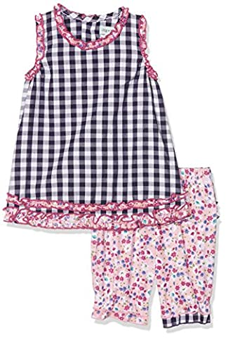 Lilly & Sid Baby Girl's A-Line Dress and Bloomer Ditsy Check Clothing Set, NA, Multicoloured (Multicoloured), 6-12 Months