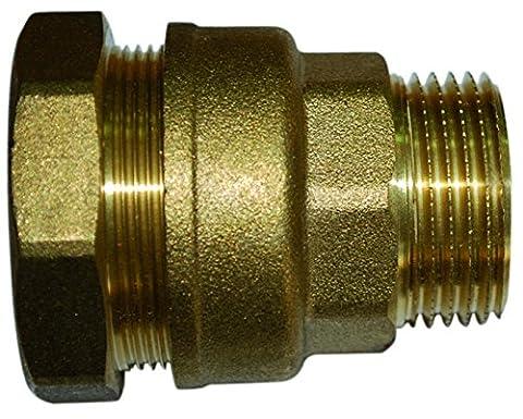 Boutté 2104459 SEM20 Raccord laiton pour tuyau polyéthylène mâle 15 x 21 tuyau ø 20