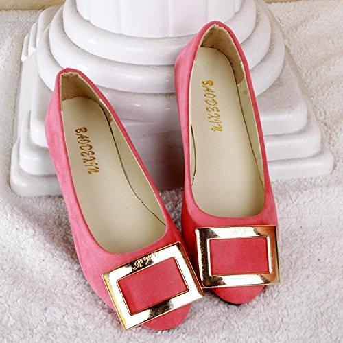 LvYuan Women's Flats / Suede / Office & Karriere / Flat Ferse / Comfort Outdoor Casual Mode / Loafers & Slip-Ons / Gehen faule Schuhe Pink
