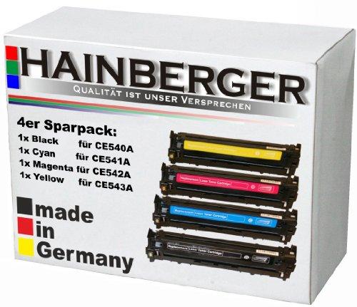 4x Hainberger Toner ersetzt CB540A CB541A CB542A CB 543A - bk 2.200...