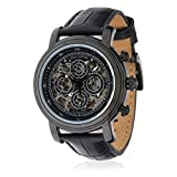 "LOUIS COTTIER Watches Montre ""Skeleton"" Bracelet Cuir"