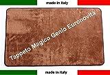 Tappeto magico Genio 57x150 vari colori antiscivolo microfibra,Zerbino,lavabile Euronovità (Marrone)