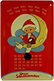 Blechschild geprägt Kalender Ostalgie Sandmann mit Markierungsmagnet 20 x 30 cm Reklame Retro Blech 474