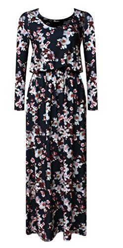 Purple Hanger Ladies Dress * One Size fits All L/XL, White Blossoms