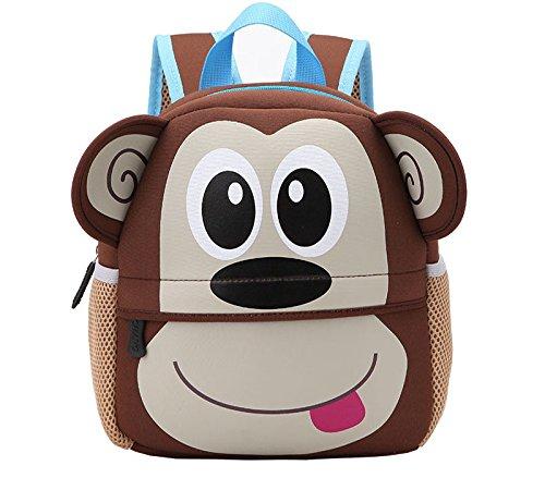 Yeelan Bolsa de escuela impermeable / mochila para niños (mono)
