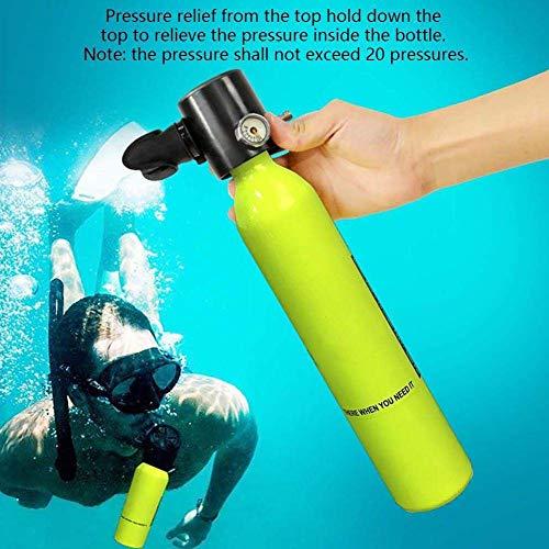 HWTP Mini-Außenlufttank, Tauchausrüstung mit Sauerstoffflasche, 7-10 Minuten lang völlig frei unter Wasser zu atmen 67 * 41 * 13 -