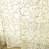 T-CDSH Wohnzimmer Schlafzimmer Erkerfenster Dicke Vegan Farbe Vollton Schattierung Vorhangstoff, Breite 150 * Höhe 270, Kaffee Stickgarn Haken