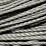 k2-accessories Cordon torsadé 0,7mm en coton ciré–C0733 / gris foncé–50 m