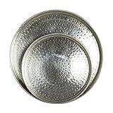 Vassoio Argento Orientale marokkanisch orientalisch rotondo dimensioni: 19 x 19 cm vassoio da portata Piatto da portata vassoio da tè Floral