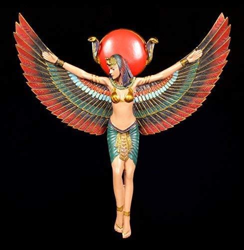 Ägyptisches Wandrelief - Isis Figur mit ausgebreiteten Flügeln   33,5 cm Ägypten Deko Göttin