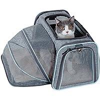 Petsfit Cage de Transport Extensible et Pliable pour Animaux de Compagnie avec Côtés Souples (Moyen : 46cm x 28cm x 28cm)