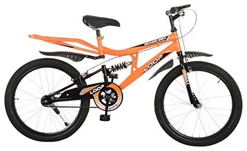 Loop™ Cycles Roadio BMX 20 Inches Shocker Bicycle Neon Orage For 8 To 10 Years Kids (Assembly Required By Customer)