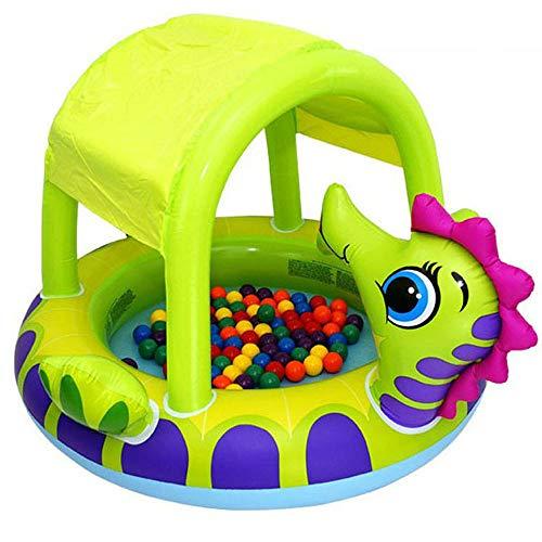 MPLMM Paddel-Spiel-Mitte Mit Markisen-aufblasbaren Pool-Kinderspielwaren 155 * 135 * 104cm Für Kinder Im Alter Von 3-9 (Pool 36 Aufblasbaren)