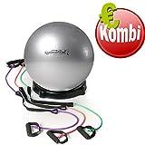 Pezziball Kombination mit Oliver Ballschale und 3 Steptubes Workout Fitness