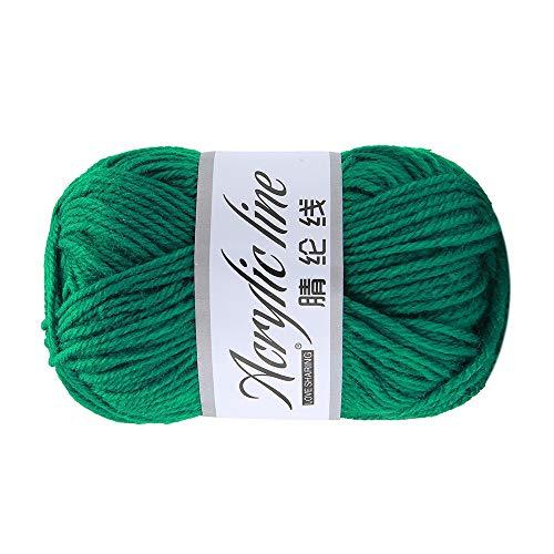Wawer 50g Häkelgarn Acrylwolle Baumwolle Umherziehen Schal Handstrickgarn Wolle Garn Dicke warme Hut Haushalt für Häkeln und Kunsthandwerk (G) -