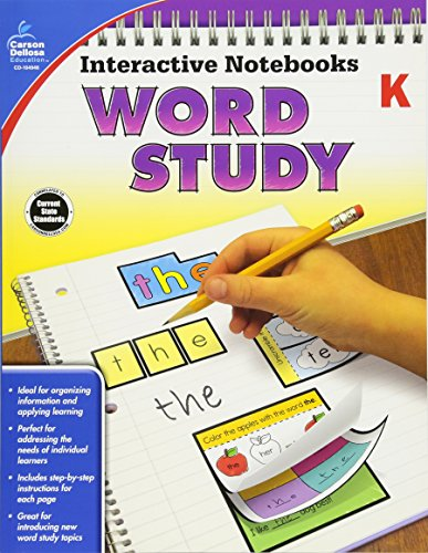 Interactive Notebooks Word Study, Grade K por Carson-Dellosa Publishing