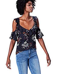 FIND Damen Cold Shoulder-Bluse