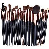 West See 20 Stück Weiche Kosmetik Pinsel-Set Make Up Bürsten Lidschatten Gesichtspinsel Eyeliner Makeup Set