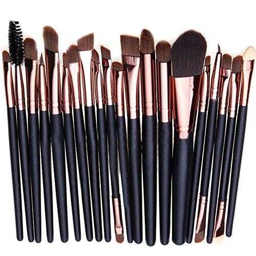 Preisvergleich Produktbild West See 20 Stück Weiche Kosmetik Pinsel-Set Make Up Bürsten Lidschatten Gesichtspinsel Eyeliner Makeup Set (Coffee 2)