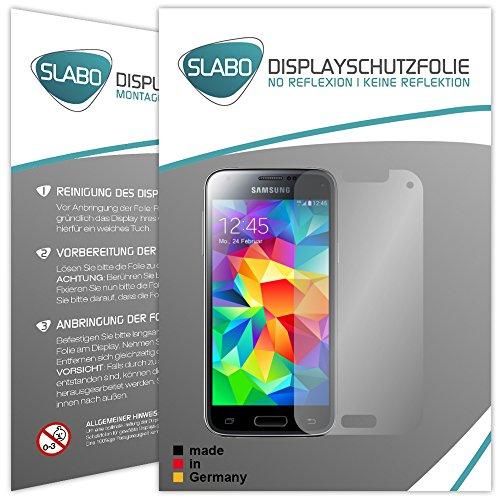 Slabo 4 x Bildschirmschutzfolie für Samsung Galaxy S5 Mini SM-G800F Bildschirmfolie Schutzfolie Folie Zubehör No Reflexion MATT