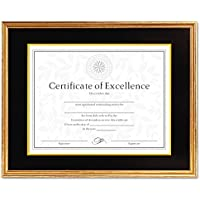 DAX Hardwood Document/Certificate Frame Antique Gold by DAX