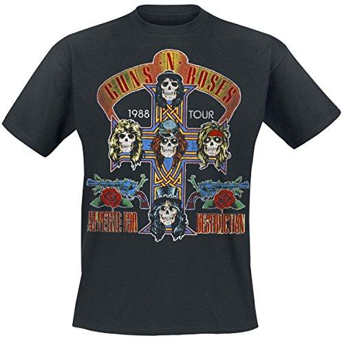 Guns N' Roses Tour 1988 T-Shirt Schwarz