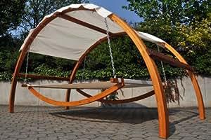 sonnenliege h ngematte aus hartholz mit dach. Black Bedroom Furniture Sets. Home Design Ideas
